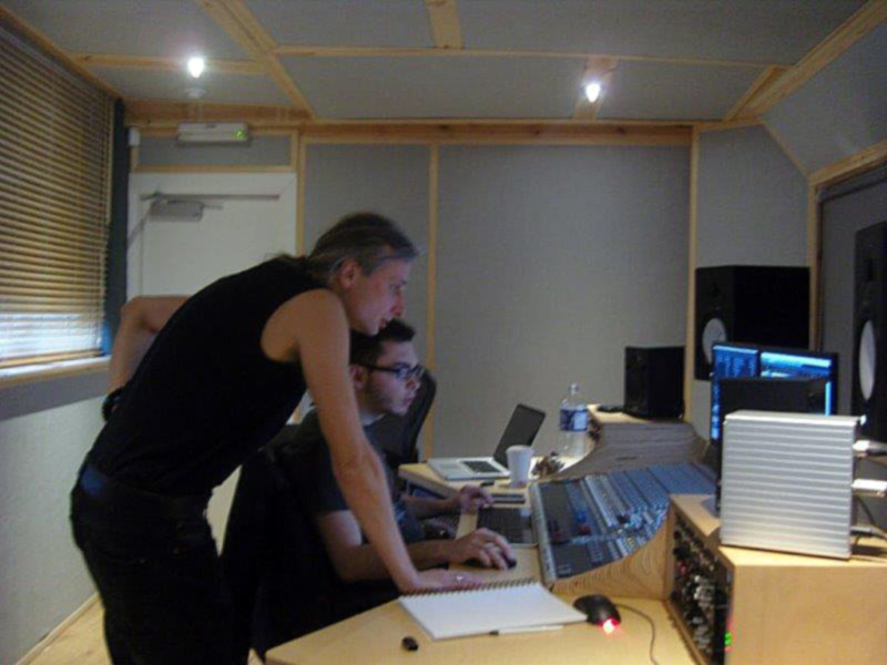 Mixing Clodhopping track with Ed Lopez at Loft Music Studios, Newcastle-upon-Tyne, UK, 2013.
